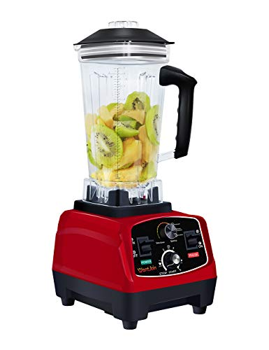 WantJoin Professional Countertop Blender for kitchen,Max 1800W Blender with Rubber Pitcher for ice smoothie ,salsa,sauce,juice (RED)