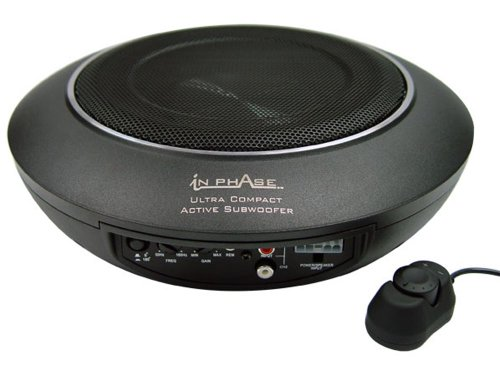 In Phase Car Audio USW10 300W 10' Underseat Ultra Slim Compact Active...