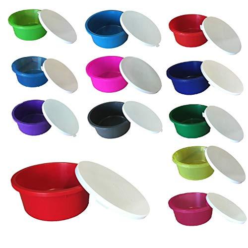 netproshop GEWA Schüssel Müsli Schale 2 Liter mit weißen Deckel Lebensmittelecht Auswahl, Farbe:Dunkelblau