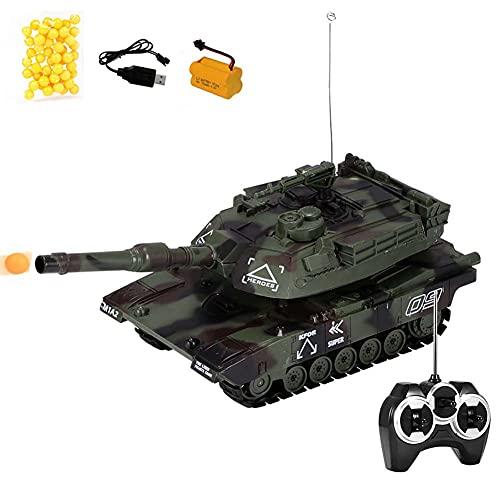 FXQIN 1/32 Escala Militar Tanque De Batalla Teledirigidos, 2.4Ghz RC Tank Panzer Juguetes Militares Que Dispara Balas Las Muchachas del Muchacho,Luz y Sonido