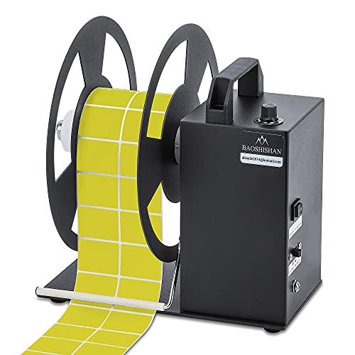 BAOSHISHAN Automatic Label Rewinder Rewinding Machine Label Width 90mm Core Holder 1/1.5/3 inch Roll Core Diameter 200mm 110V (A5)