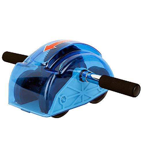 LFJY Rebound-Typ Getriebe Vier-Rad-Bauchrad Home Fitness-Rad Bauchmuskelrad Bauch Home Fitness-Ausrüstung,Blue