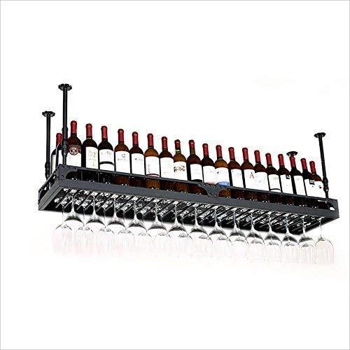 PZW Bancone Bar Bancone Bar Portabottiglie Ristorante Casalinghi Bicchieri da Vino Portabottiglie Retro Iron Art PortabottiglieA, 120 35 centimetri *