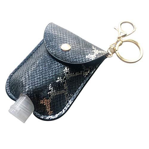 Covermason Nachfüllbare Flaschen Schlangenhaut Muster Tragbare Reiseflaschen Mit Schlüsselanhänger 2 In 1 Reiseflaschen für Desinfektionsmittel, Fluessigseife, Cremeseife, Hand-Hygienegel