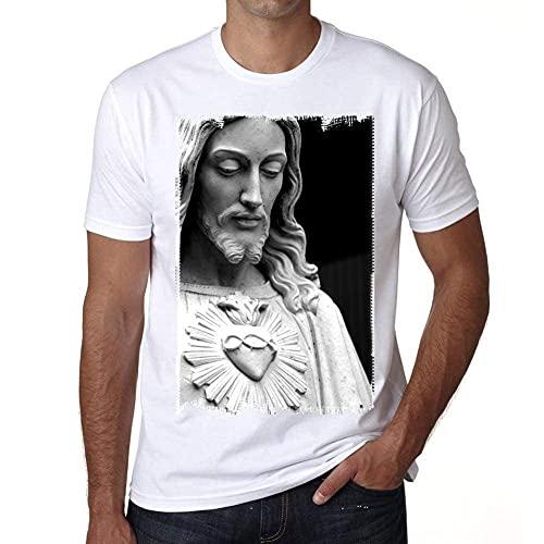 One in the City Jesus Christ Love H T-Shirt,Cadeau,Homme,Blanc, M,t Shirt Homme