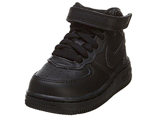 Nike NIKE Force 1 Mid Td 314197 113 Unisex - Kinder Sportschuhe, Nero (Black/Black), 21 EU