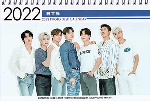 防弾少年団 BTS グッズ 卓上 カレンダー (写真集 カレンダー) 2022~2023年(2年分) + ステッカーシール [12点セット]