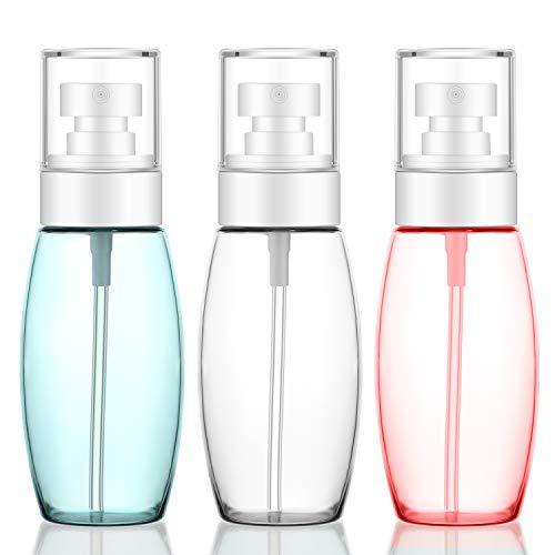 3pcs Nebel Flaschen für Gesicht sprühen, Segbeauty 100 ml TSA-Sprayer feine Nebel, auslaufsicher tragbare nachfüllbar Reiseflugzeugbehälter für Reinigungslösung, Make-up, lockiges Haar