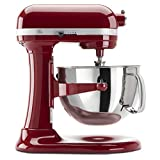 A Red Kitchen Aid Stand Mixer