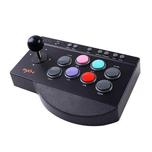 Arcade Fight Stick, PXN Street Fighter Arcade Game Fighting Joystick con puerto USB, con funciones Turbo y Macro, apto para PS3 / PS4 / XBOX ONE / Nintendo Switch / Windows PC.