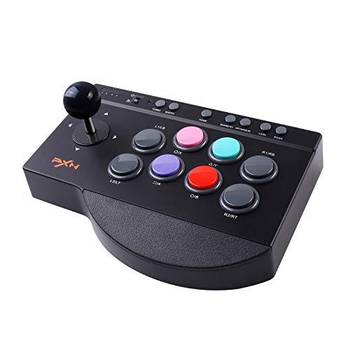 Arcade Fight Stick, PXN Street Fighter Arcade Game Fighting Joystick with USB Port, with Turbo & Macro Functions, Suitable for PS3 / PS4 / Xbox ONE/Nintendo Switch/PC Windows.