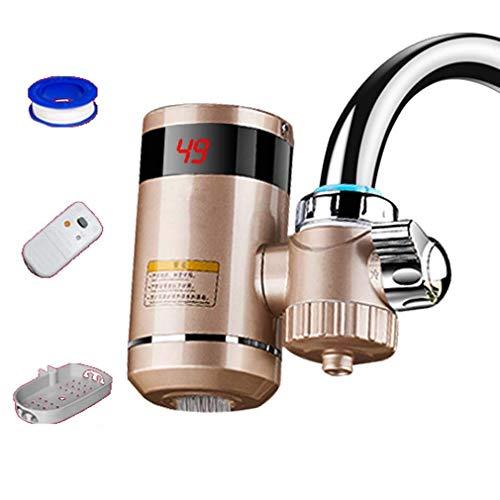 Grifo de Agua Caliente eléctrico Tipo de conexión de instalación Gratuita Grifo de Agua de Calentamiento instantáneo con Pantalla Digital LED (Grifo aplicable al 90%), Purificación de Agua,