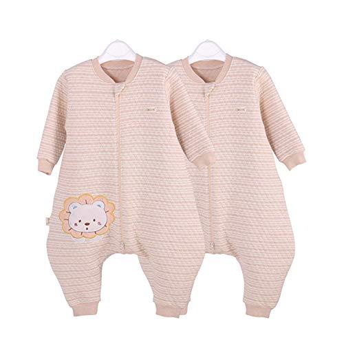 CAIYIXIONG Unisex Baby Sleeping Bag 6-18 Months Leg Sleeping Bag Spring Autumn Natural Warm Cotton Anti-Kick Baby Swaddle Baby Blanket Children's Sleeping Bag