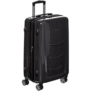 AmazonBasics Hardshell Spinner - 20  Cabin Size, Slate Grey