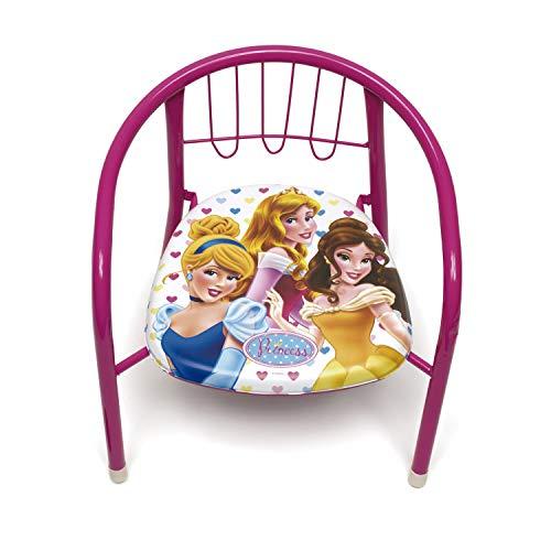 ARDITEX WD7871 Silla de Metal de 35.5x30x33.5cm de Disney-Princesas
