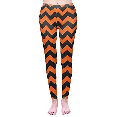 YJKGPZQLZ Yoga Legging de Mujer Legging Zigzag de Halloween Leggins de Cintura Alta Leggings Punk Leggins de Entrenamiento Pantalones de Fitness Delgados