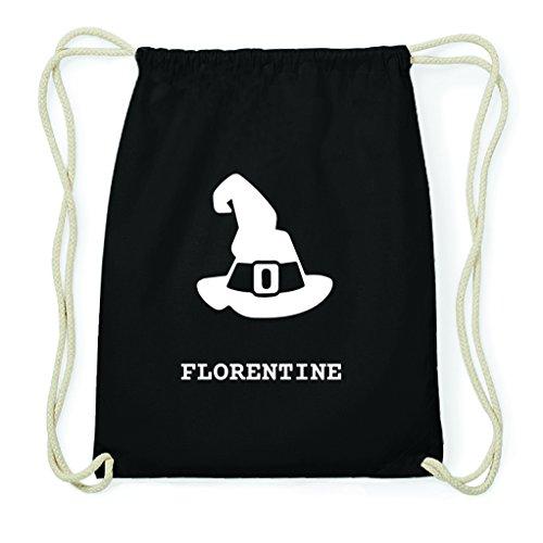 JOllify Turnbeutel Halloween für Florentine - Hut Hexe Zauberer