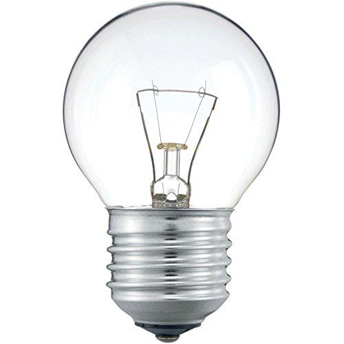 Philips 30600021 E Glühlampe Tropfenform, 10-er, Glas, 40 watts, E27, klar, 4,49 x 4,49 x 7,175 cm
