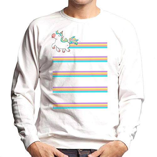 Cloud City 7 Rainbow Unicorn Trail Men\'s Sweatshirt