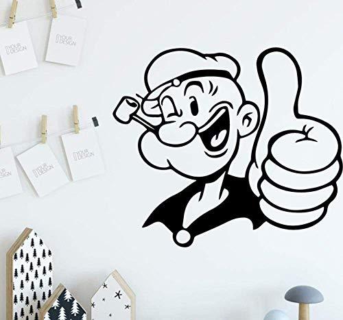 Muursticker decoratie voor thuis wandlamp van vinyl voor jongens fitness familie binnenfeest 43 x 49 cm