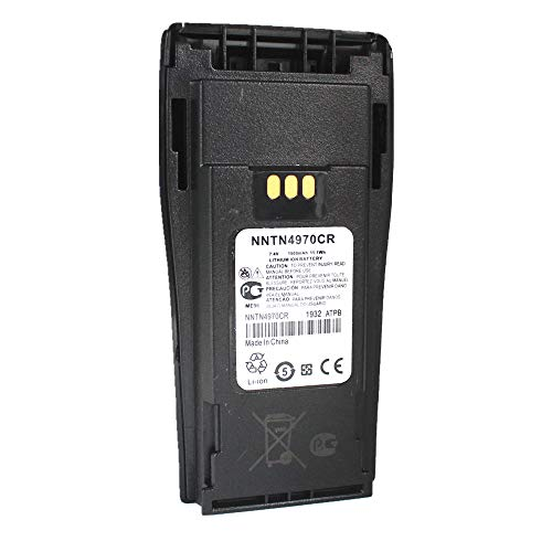 NNTN4970 NNTN4970CR NNTN4970A NNTN4496 7.4v Replacement Li-Ion Battery Compatible for Portable Two Way Radio Motorola CP150 CP200 CP200XLS CP200 PR400 EP450 with Belt Clip