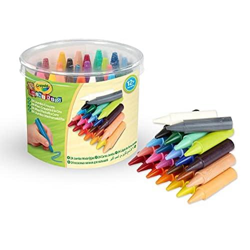 Crayola Mini Kids, Maxi Pastelli a Cera, Forma Tonda, 24 Pezzi, Età 12 Mesi, Colori Assortiti, 0784