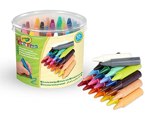Crayola Mini Kids-24 Crayons Disney Bote 24 Ceras Kids Jumbo 7x9, Multicolor, 1 Pack (Nomaco 0784) , Modelos/colores Surtidos, 1 Unidad