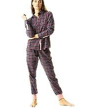 J&J BROTHERS Pijama Mujer Cuadros Talla M