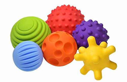 Fancy Baby Sensorik Balls - Babyspielzeug ab 0 3 6 8 Monate, Greifball für Babys, Multi Texturierte Motorikspielzeug, Massagebälle, Pekip Spielzeug, Baby Ball