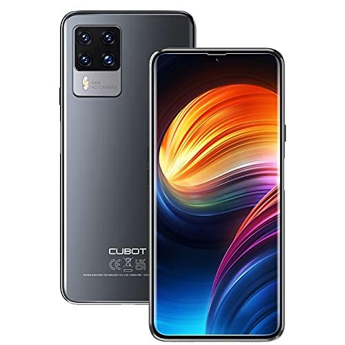 CUBOT Smartphone X50, Teléfono Móvil Libre 4G 8GB+128GB Cámara 64MP+32MP Pantalla 6,67' 1080P FHD+ 4500mAh, Octa-Core Procesador Android 11 Dual Nano SIM con NFC OTG Face ID Versión 2021 Negro