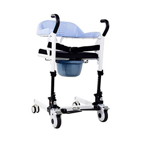 RGHS Medical Lift Rollstuhl, Multifunktionale Hebebühne Haushaltsübertragungs-Transfergerät Pflege Für Ältere Menschen Im Bett Gelähmte Ältere Menschen Liftable Shifter