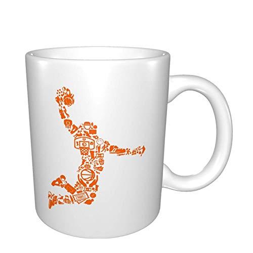 XCNGG Taza de café de la taza de la taza del cielo estrellado de la pendiente de la taza de cerámica Coffee Tea Ceramic Mugs Basketball Player Personalized Cup Gift Kitchen Bedroom Decor 11 Oz(33