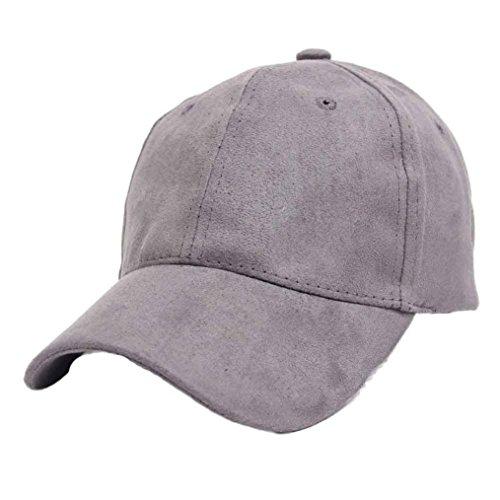 VESNIBA Hip-Hop Baseball Cap Outdoors Flat Snapback Hat (Gray)
