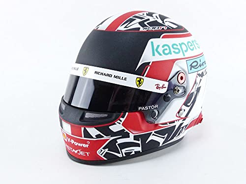 Mini Helmet- Coche en Miniatura de colección, Color Red/White/Black (4100108)
