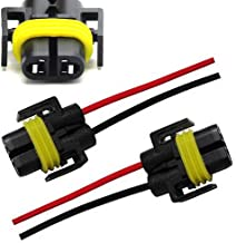 iJDMTOY (2) H11 H8 880 881 Female Adapter Wiring Harness Sockets Wire For Headlights or Fog Lights