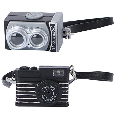 Uonlytech 2 Stück Mini-Kamera Spielzeug mit Blitzlicht Und Sounds Kinder Klicken Kamera Puppenhaus Kamera Modell Fotoshooting Dekorationen Zubehör Geschenke für Jungen Mädchen