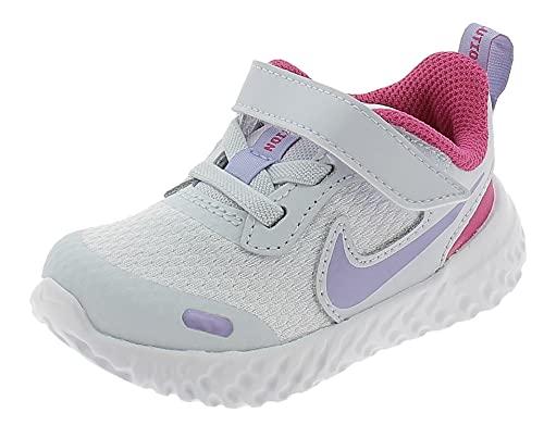 Nike Revolution 5 TDV Scarpe Sportive Bambina Grigie BQ5673018 Grigio 23.5 EU