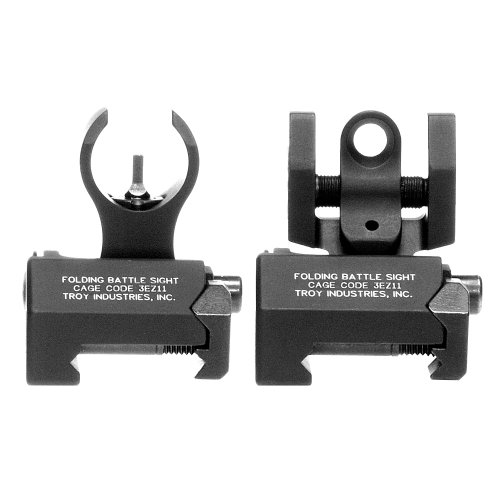 Troy Industries Micro HK Style Front and Rear Folding Battle Sight (Black)