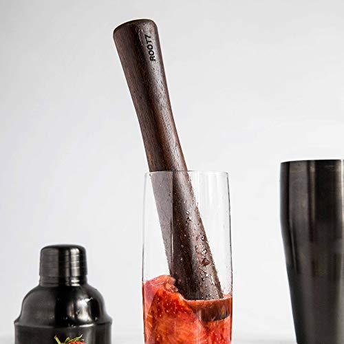 Root7 Bar Tools in Titanium, Silver, Copper & Black (Wood, Muddler)