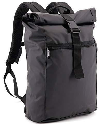 SHG Sac à dos de coursier en bâche de camion, imperméable, sac à dos à roulettes, pour le sport, les loisirs, la randonnée, l