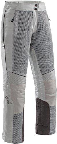 Joe Rocket Cleo Elite Motorradhose für Damen, Textil/Netzstoff, Silber/Grau, Größe M