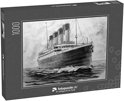 Puzzle 1000 Teile Titanic. Bild eines titanischen Bleistifts. Die Titanic segelt im Ozean - Klassische Puzzle, 1000 / 200 / 2000 Teile, edle Motiv-Schachtel, Fotopuzzle-Kollektion 'Kunst'