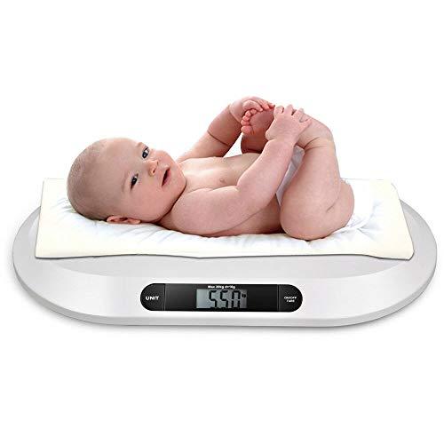 RANZIX Elektronische Babywaage, Skala für Babys, Digitale Kinderwaage bis 20Kg mit LCD-Display mit Hintergrundbeleuchtung 3 Modi