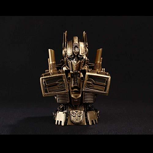 YLSP Exquisite Hand Model Toy Model Transformers Optimus Prime Bust Decoration PVC Box Series Crafts 18cm (Color : Silver) image