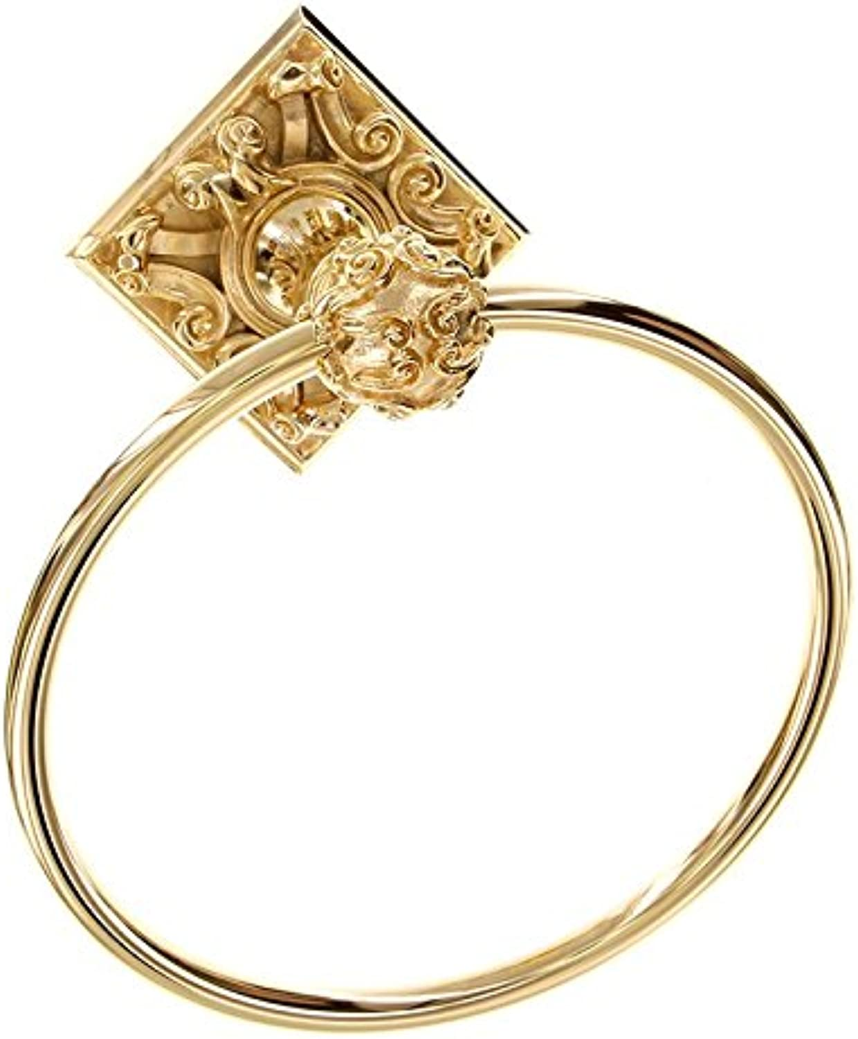 Vicenza Designs TR9001 Sforza Towel Ring, Polished gold