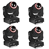 (4 pack) Moving Head Light spot 85w led stage lighting 4-in-1 with 15 magical gobos Patterns Wash Light 85W By Sound Activated DMX 512 Control 9/11Ch For Wedding Festival Concert Dj Disco Party Show