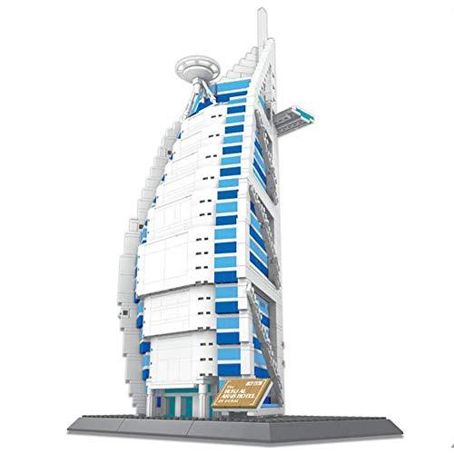 1307 pcs Dubai Voile Hôtel Building Blocks Cadeaux Créatifs Modèle 3D DIY Building Blocks Jouets pour Enfants