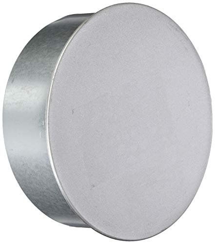 FIREFIX A150/K Fal - Tapa para Tubo de Estufa (150 mm de diámetro, Chapa de Acero, 0,6 mm de Espesor, Interior con mufft, Soldado con láser), Plata