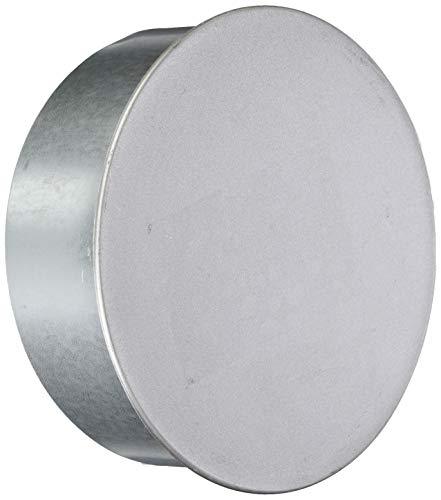 FIREFIX A150/K FAL kachelpijpkapsel/wandvoerdeksel, ø 150 mm - kachelpijpen van plaatstaal, 0,6 mm dik, binnenliggend gemufft, lengtes lasergelast, zilver