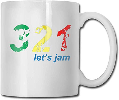 321.Lass 'S Jam Home Keramik Teetasse Büro White Coffee Mug 11 Oz
